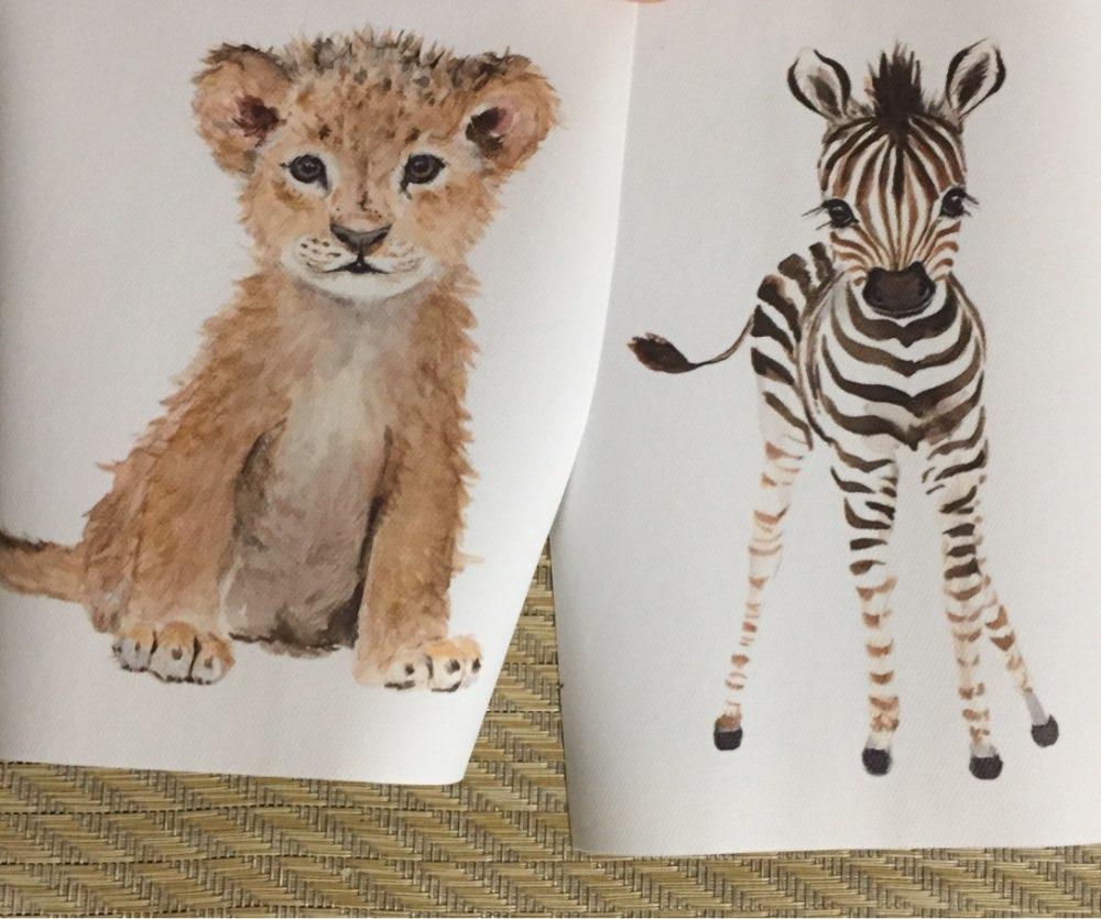 Animal Nursery Canvas Wall Art photo review