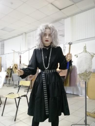 Harajuku Black Midi Dress photo review
