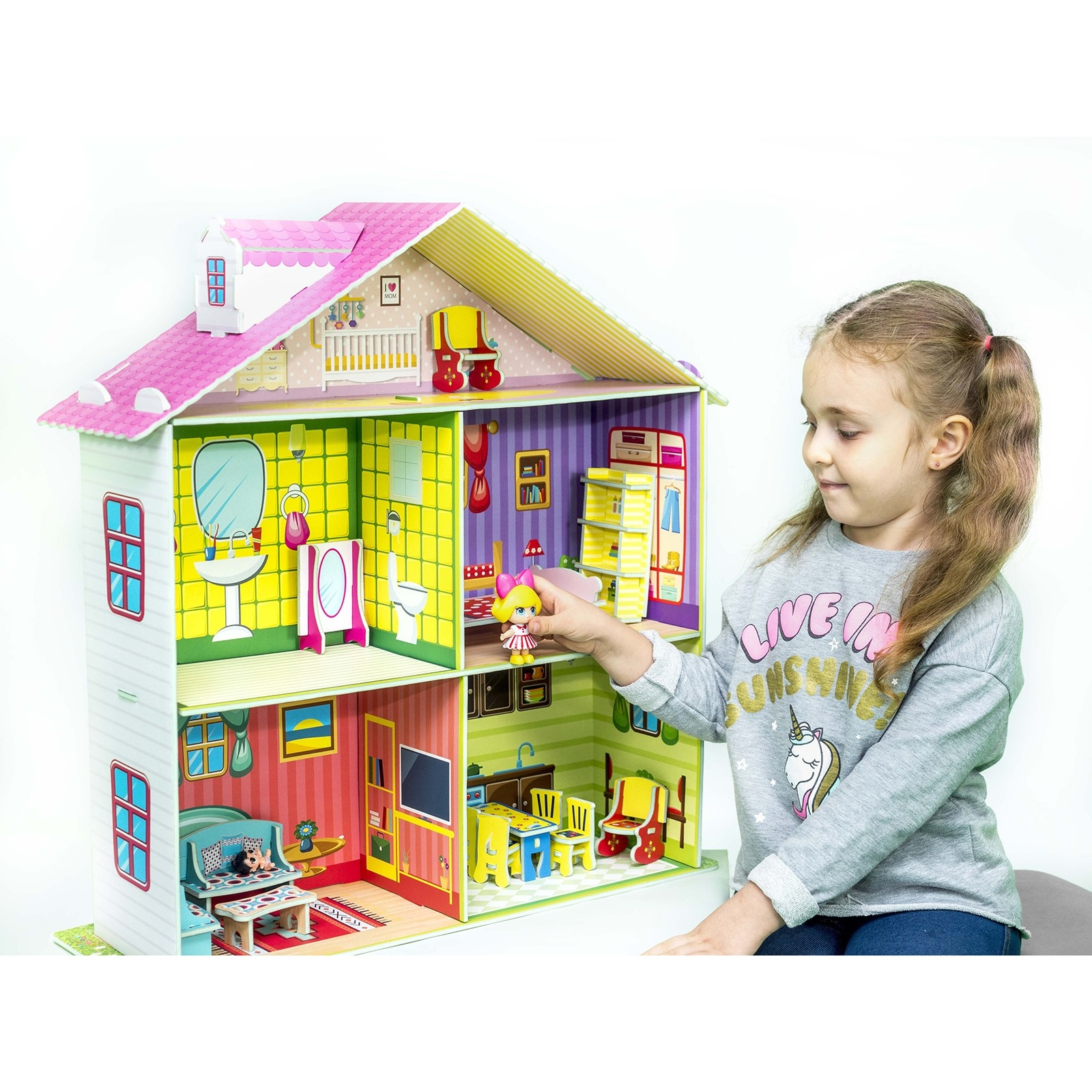 Ebebek Dıy Toy Rose Doll Game House