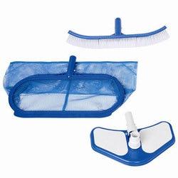 KIT de nettoyage de piscine, râteau, brosse murale, tête d'aspirateur, INTEX DELUX pour 58959, 29057