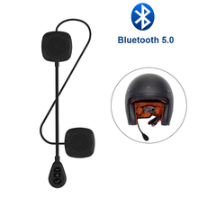 Bluetooth 5.0 Motorcycle Helmet Headset Anti-interference Stereo Headphones Handsfree Intercom For Mobile Phone and GPS
