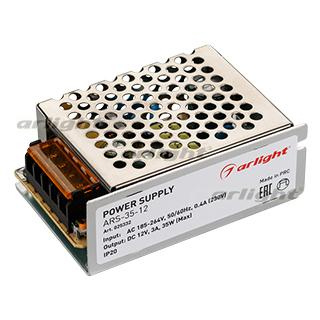 025332 Power Supply ARS-35-12 (12V 3A 35W [IP20, 2] Box-1 Pcs ARLIGHT-Блок Power Supply/AC/DC Sources ^ 21