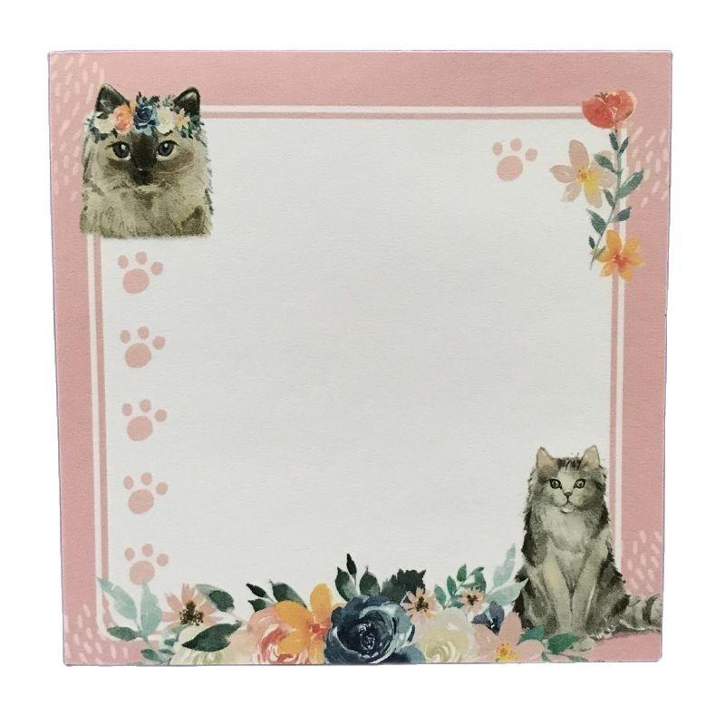 Блок для записей Котики в цветах, 60 листов (80 мм х 80 мм)