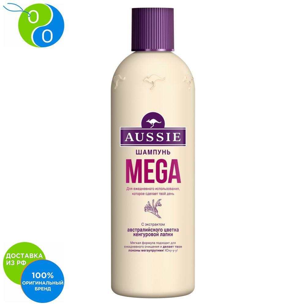 Aussie Mega Shampoo for all hair types 300 ml,shampoo, aussie mega instant, 300 mL, flower gemodorum shampoo aussie mega instant, shampoos, shampoo shamppun, aussie, aussy, aussi, ossy
