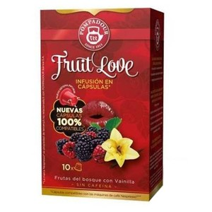 Fruit Love, forest fruits with vanilla, 10 Pompadour capsules, compatible Nespresso®