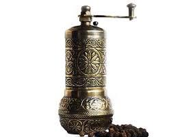 SS1- SILVER- Authentic -Anatolian- Turkish -Copper -Grinder- Salt -Pepper -Coffee-Mill-Spice-Salt-Grinder- Pepper -Grinder -Made- in-Turkey