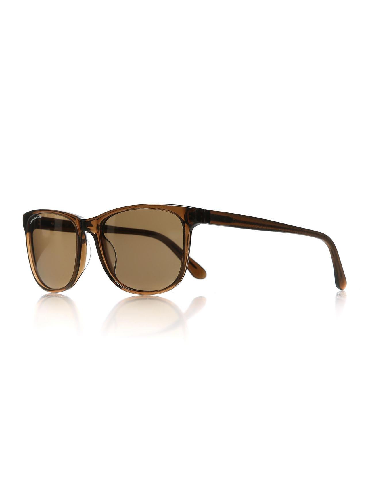Unisex sunglasses blu bms09 02 55 bone Brown organic rectangle rectangular 55-18-140 tiny