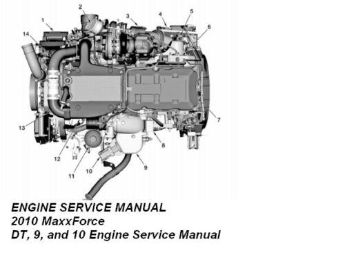 Руководство по обслуживанию двигателя 2010 MaxxForce DT, 9 и 10