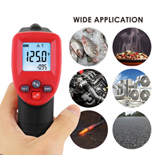 THE 262 Digital Lasergrip Pyrometer Non Contact Thermometer Laser IR Temperature Meter Adjustable Emissivity Scanning Function