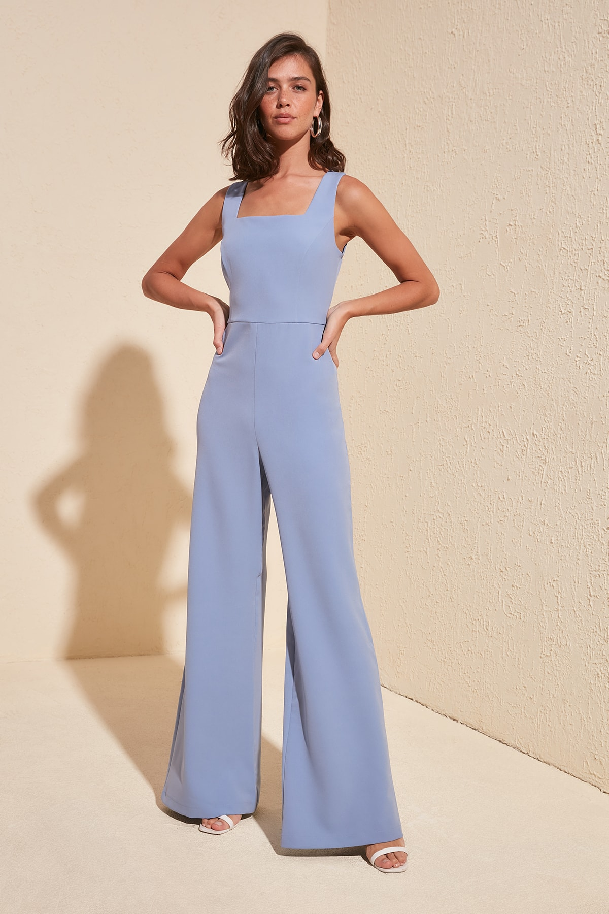 Trendyol Square Collar Jumpsuit TWOSS19BY0020