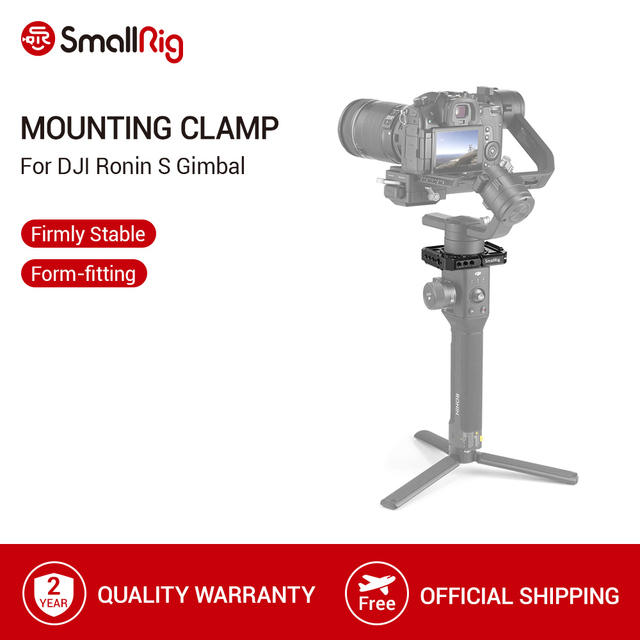 DJI Ronin S Gimbal Stabilizer 용 SmallRig Rod Clamp 1/4 및 3/8 나사 구멍이있는 퀵 릴리스로드 클램프 키트 2221