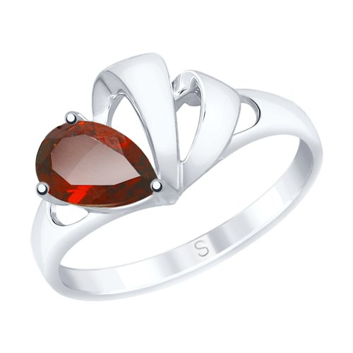 SOKOLOV Ring Of Silver With Pomegranate