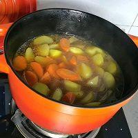 """#美食说出""""新年好""""#红烧牛腩炖土豆的做法图解6"""