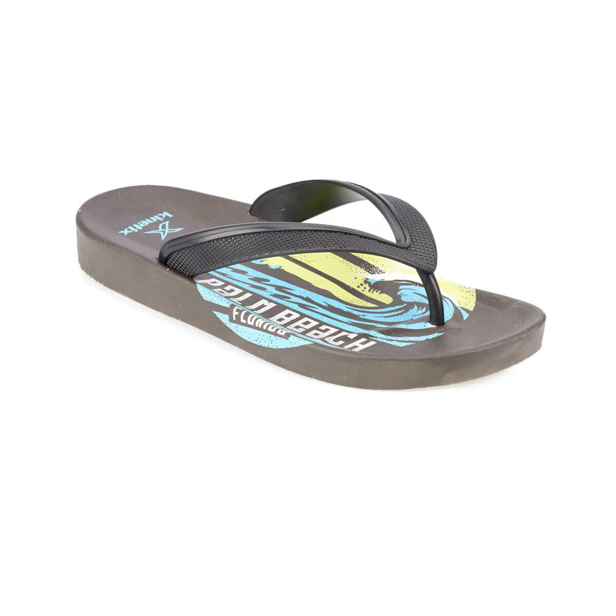 FLO PALM Black Male Slippers KINETIX