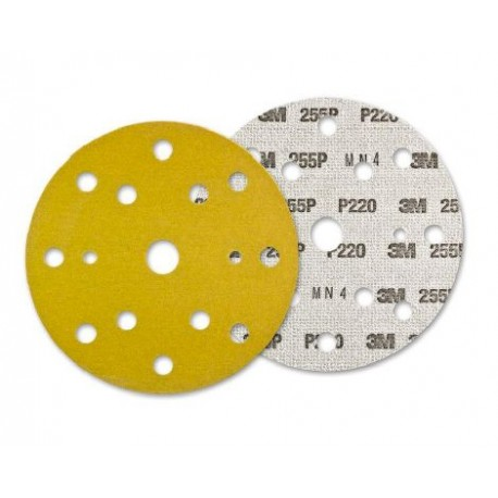 SANDING DISC WOOD ADHESIVE 150 MM 17 HOLES GR220 3M