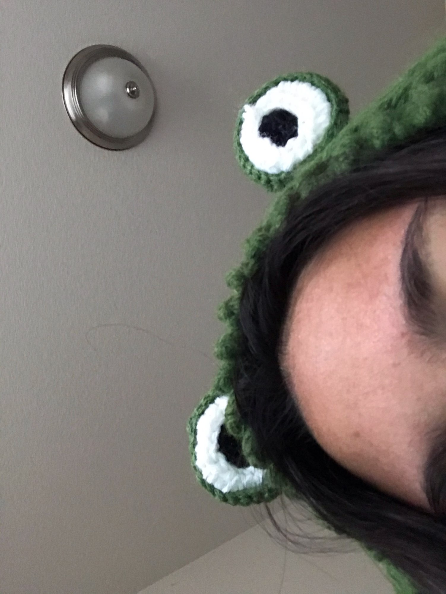 Fashion Knitted Frog Hat photo review