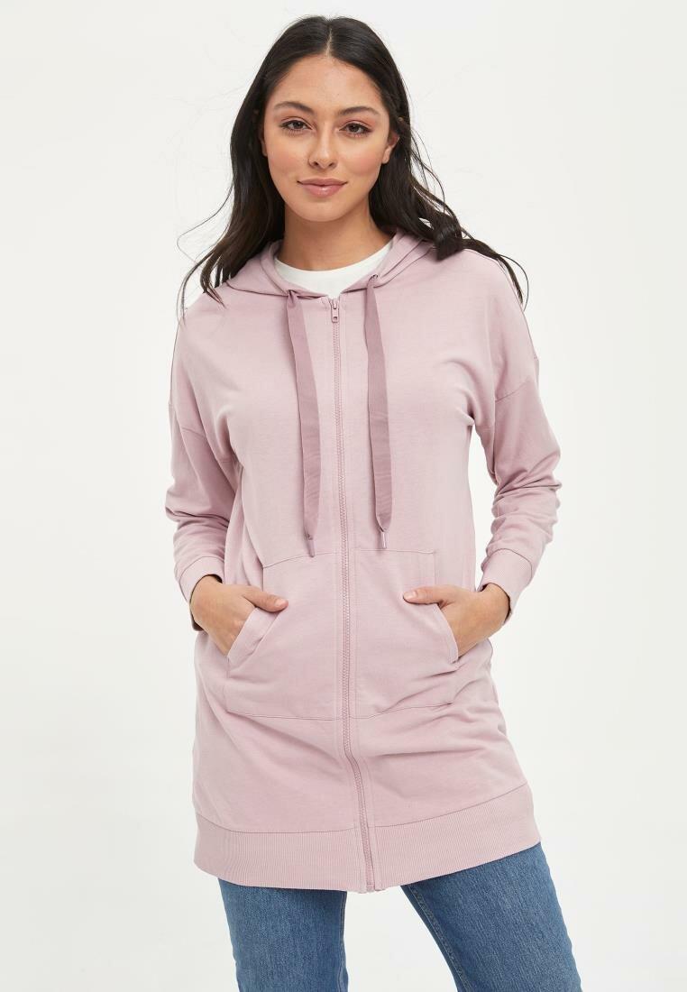 DeFacto Woman Knitted Cardigan Women Spring Casual Long Hoodies Women's Solid Color Hooded Sweatshirts Women Tops-M9097AZ20SP
