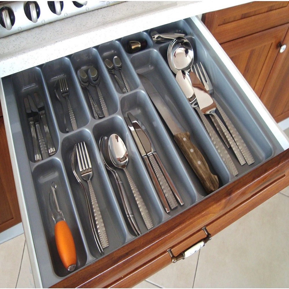 Made In Turkey  BEST QUALITY - CE CERTEFIED  L:30cm X W:49cm  Kitchen Drawer Cutlery Spoon Fork Knife Storage Organizer Tray Box