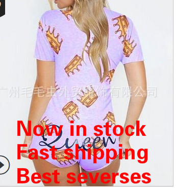 2020 New Women Sexy Print Long Sleeve Slim Button Jumpsuit Ladies Bodycon Romper Sleepwear Bodysuit Playsuit