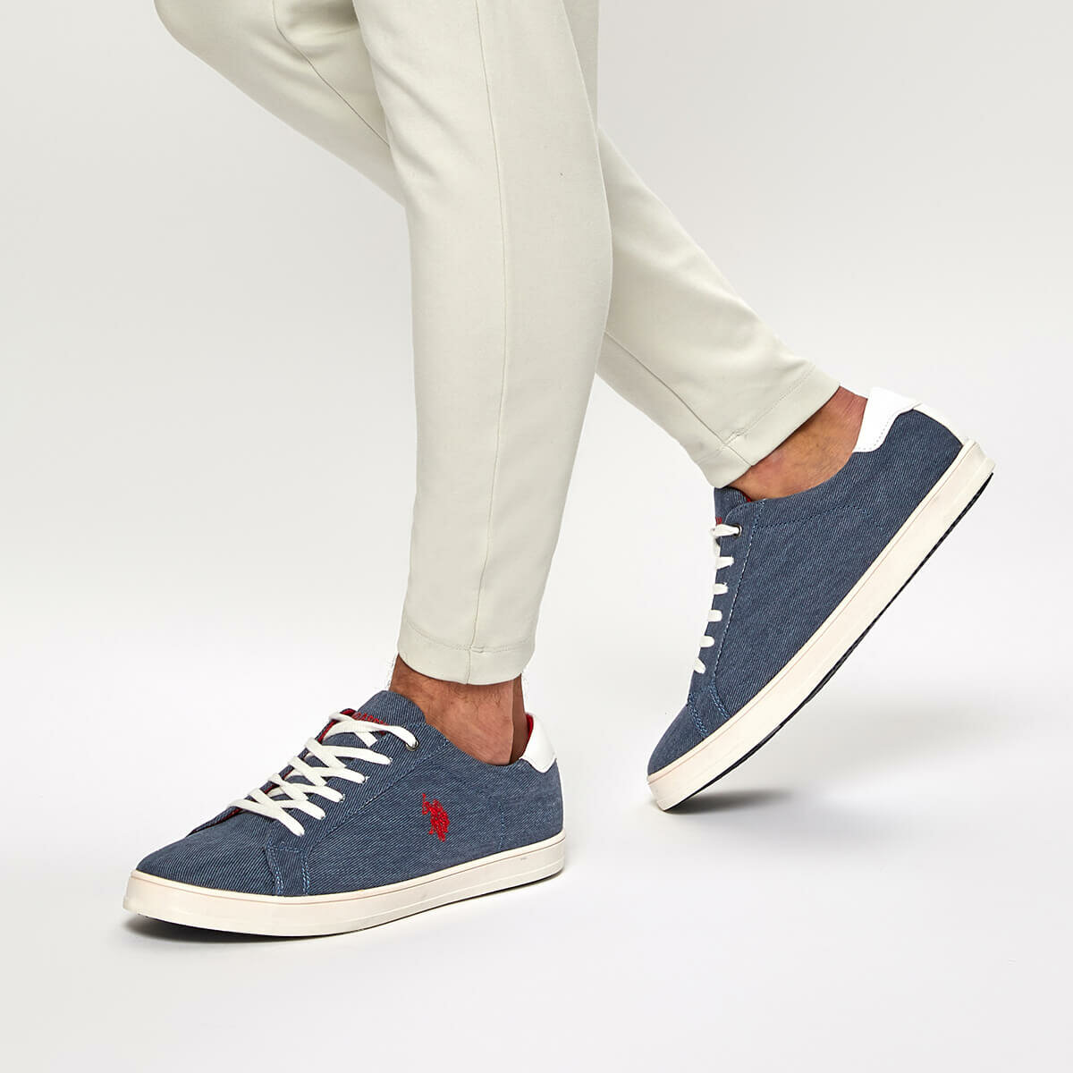 FLO POST Navy Blue Men 'S Sneaker Shoes U.S. POLO ASSN.