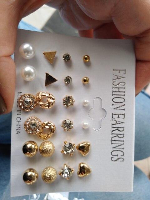 Conjunto de Brincos Fashion 12 pares photo review