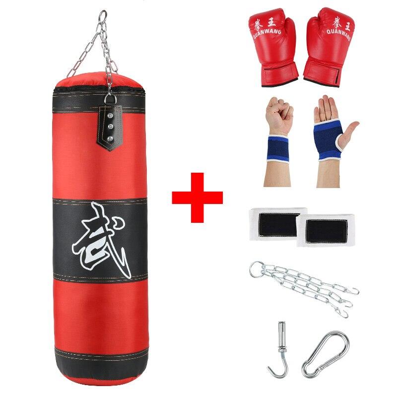 Sac de boxe professionnel entraînement Fitness avec coup de pied suspendu sac de sable adultes exercice de gymnastique vide-lourd sac de boxe