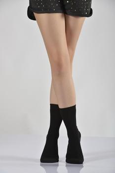 Idilfashion Women Bamboo Socket Socks-Black-B-ART044 (pakiet 3 #8217 LÜ) tanie i dobre opinie Lateks COTTON