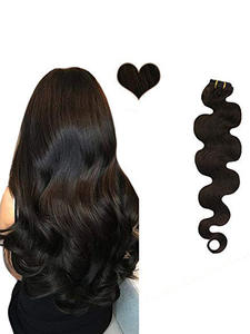 Ugeat Hair-Extension Curly Straight Natural 14-24inch Body-Wave Full-Head 120g/Pack