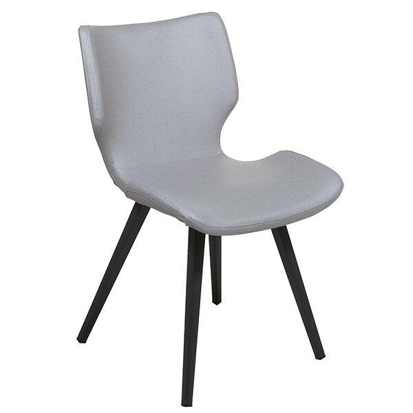 Dining Chair Polyskin Metal Grey (45 X 51 X 80 Cm)