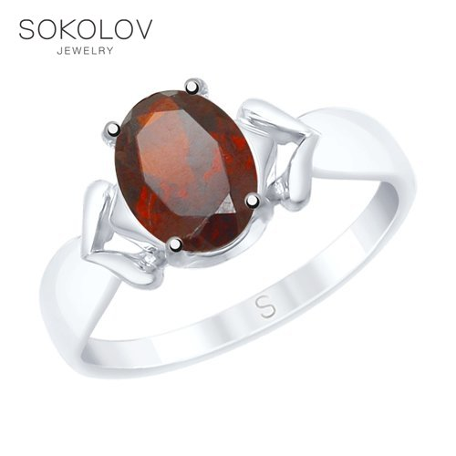 SOKOLOV Ring Of Silver With Pomegranate Fashion Jewelry 925 Women's Male