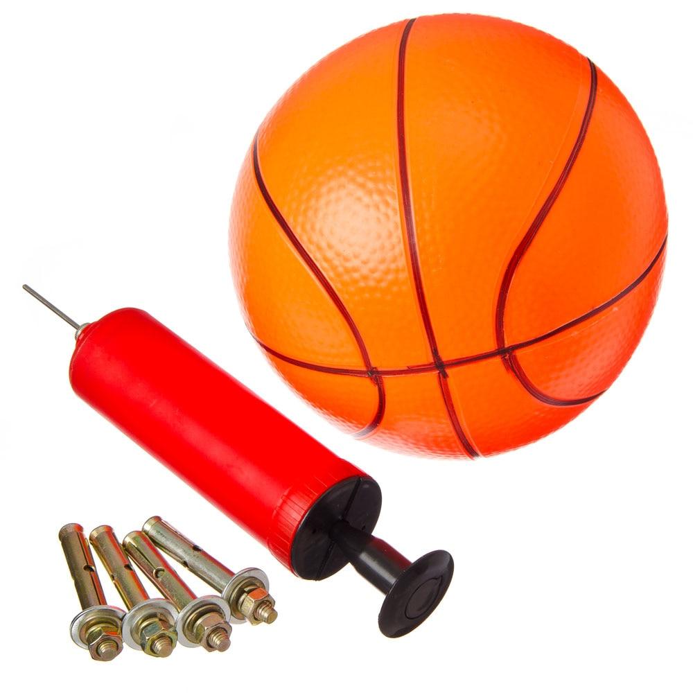 BASKETBALL KIT: BASKET D 32 CM, PUMP, BALL D 16 CM, MOUNTING BOLTS, METAL, PVC BABY GAME BASKETBALL BALL RING