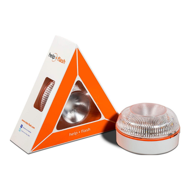 Ajudar a flash-Luz de emergencia autónoma-Señal v16 de preseñalización de peligro, homologada DGT