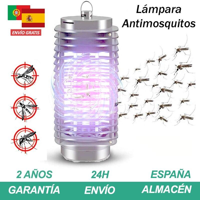 Lampara antimosquitos 3W Bombilla mata zanzara electrico con luz ultravioleta 220-240V mosquito killer esterno anti zanzara