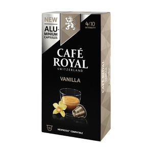 Vanilla, coffee Royal 10 compatible Nespresso aluminum capsules