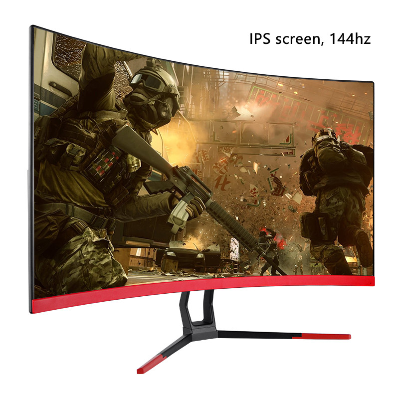 Pantalla Ultra ancha de 24 pulgadas, 144Hz, curva, Led, Juegos de ordenador, Monitor PC