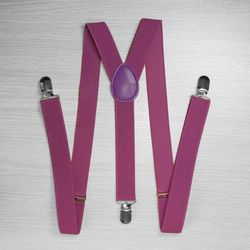 Pants suspenders narrow (2.5 cm, 3 clips, Lilac) 52871
