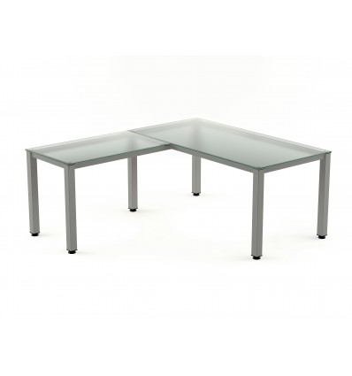 WING FOR TABLE EXECUTIVE SERIALS 100X60 ALUMINUM/CRYSTAL (PRICE JUST FOR THE WING, THE MAIN TABLE IS PURCHASED SEPARATELY)