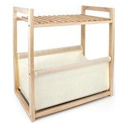 Półki wygodne drewno (35 5x22x39 cm) na