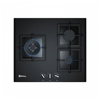 Gas Hob Balay 3ETG663HN (60 cm) Black Crystal (3 Stoves) Cooktops Home Appliances -