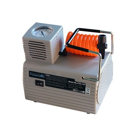 COMPRESOR ELECTRICO BASIC - VOLTAJE AC 220V, POTENCIA 1/8 HP Y PESO 1.6KG - 18 X 18 X 14CM