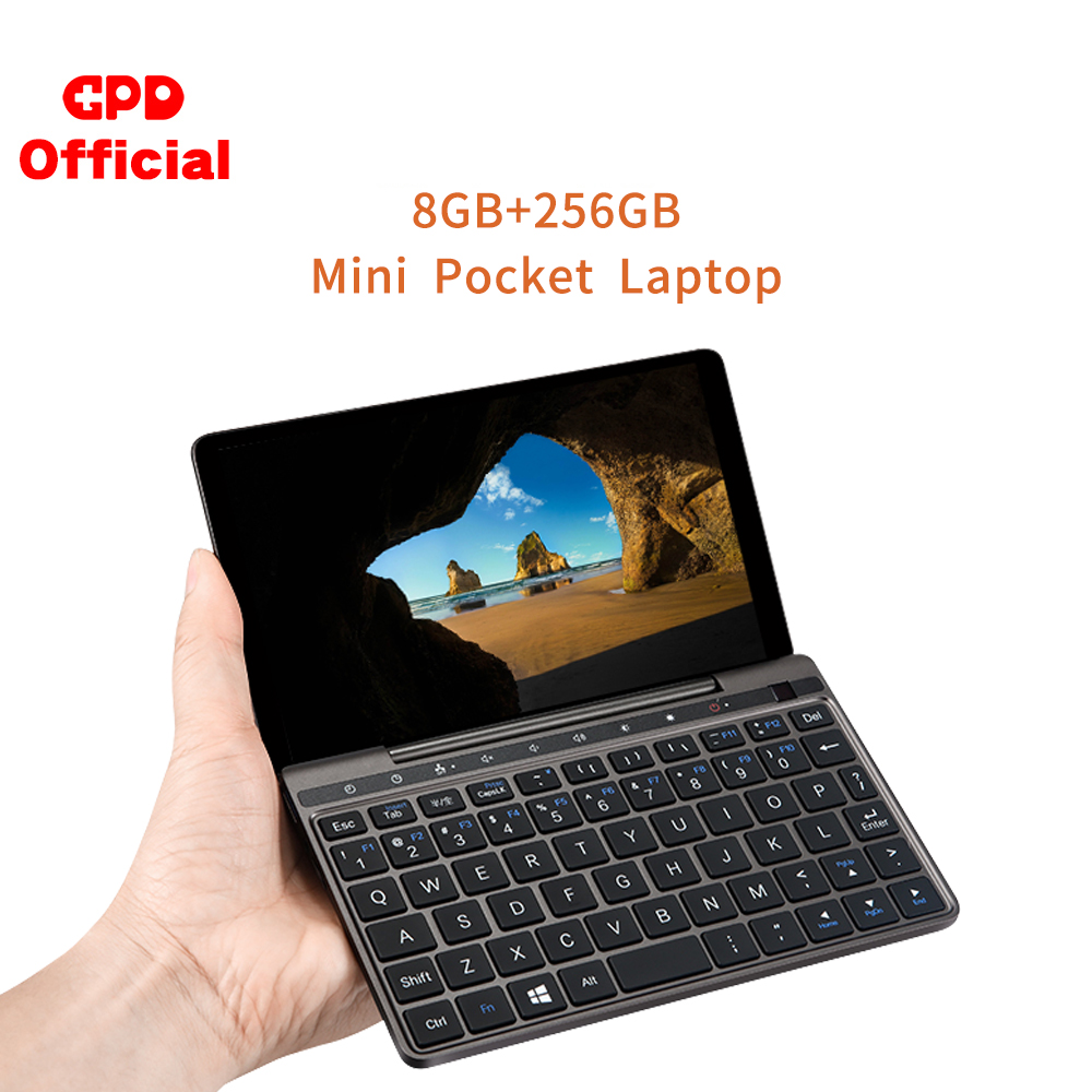 Novo gpd bolso 2 8 gb 256 gb 7 Polegada magro computador portátil gaming mini computador computador netbook tela de toque cpu intel celeron 3965y windows 10