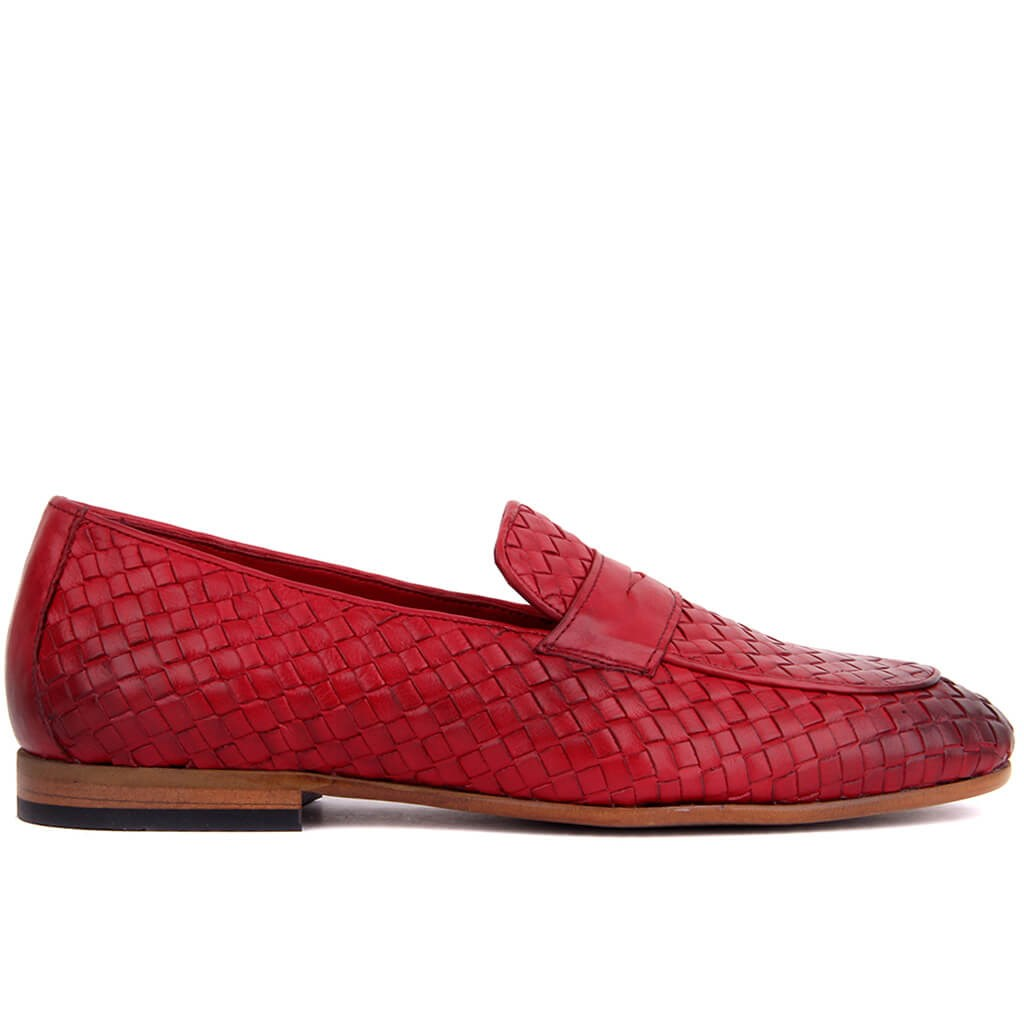 Sail-Lakers Burgundy Leather Male Shoes