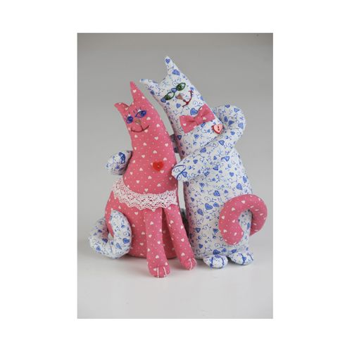 Pl402 set for making a textile toy 'loving cats '', 26 cm, 'perlovka'