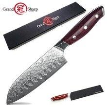Santoku-cuchillos de cocina japoneses vg10 de 5 pulgadas, de acero damasco japonés, herramientas de corte, el mejor regalo familiar