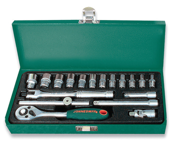 Set of end Heads 1/4DR, 4-13mm, 18 items jonnesway s04h2118s a set of pans cmh усадьба 1 6 items