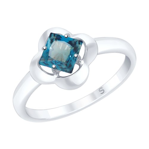 SOKOLOV Ring Made Of Silver With A Blue Topaz