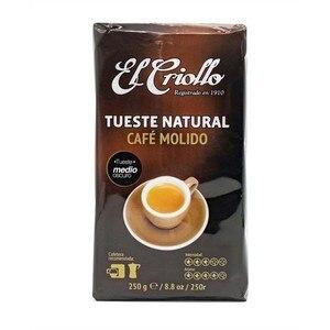 Cafe El criollo TUESTE NATURAL, 250g ground coffee