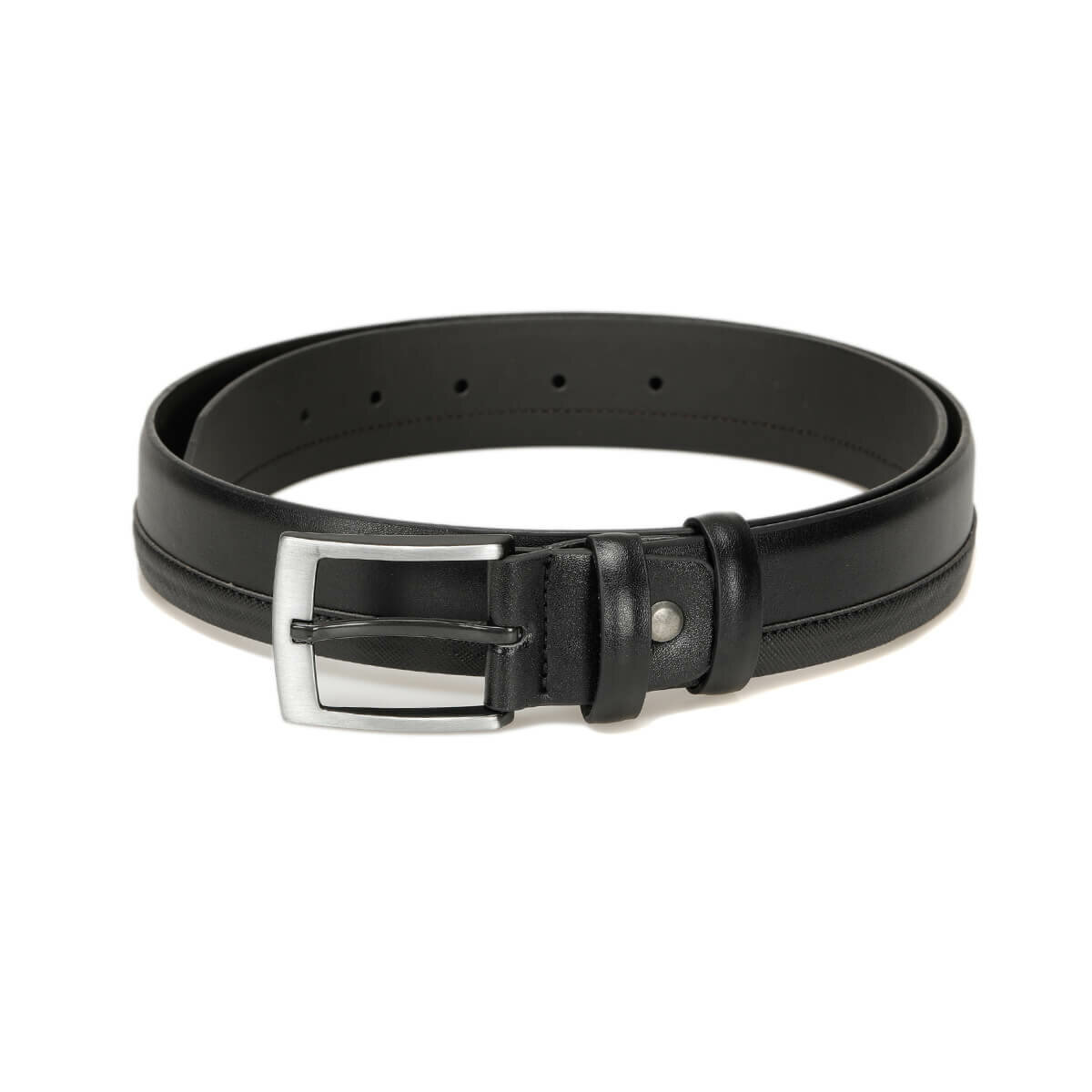 FLO MRAS3402 Black Male Belt Oxide