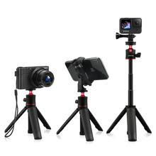 AFAITH Mini Selfie treppiede tavolo esteso Selfie Stick monopiede per Smart Phone Gopro Hero 9 8 7 6 5 nero Action Camera accessorio