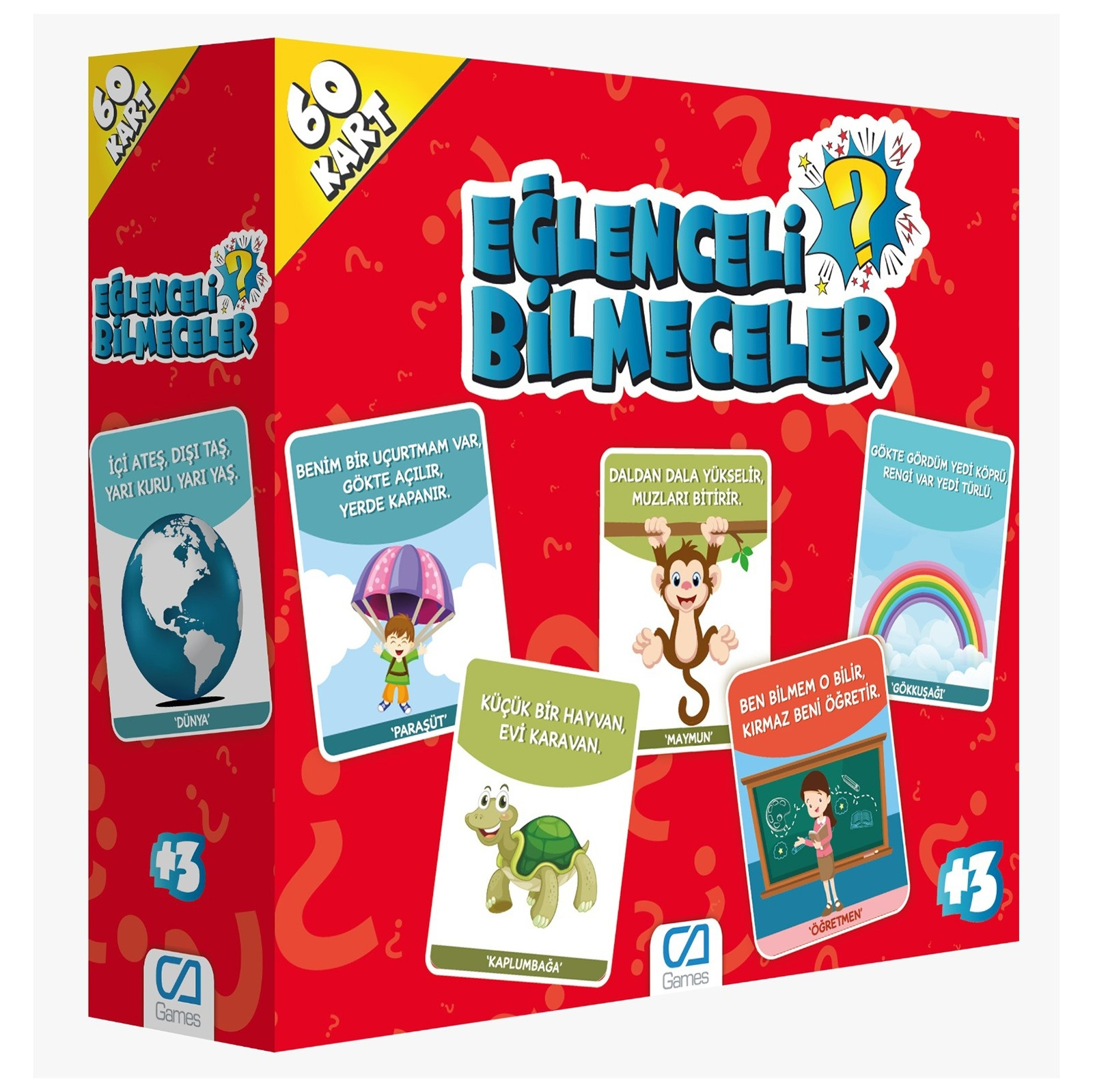 Ebebek Ca Games Fun Riddles 60 Cards 3 Years+